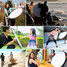 110CM Multi Disc Light Reflector Nylon 5 In 1 Collapsible Photography Lighting Durable Taking Pictures Round Studio Portable tanie tanio Woopower