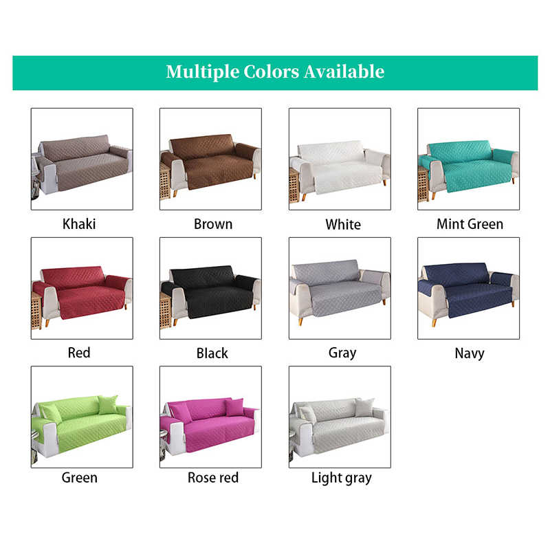 Kapitone Anti aşınma kanepe kapakları köpekler evcil çocuklar kaymaz kanepe Recliner Slipcovers koltuk mobilya koruyucu 1/2/3 kişilik