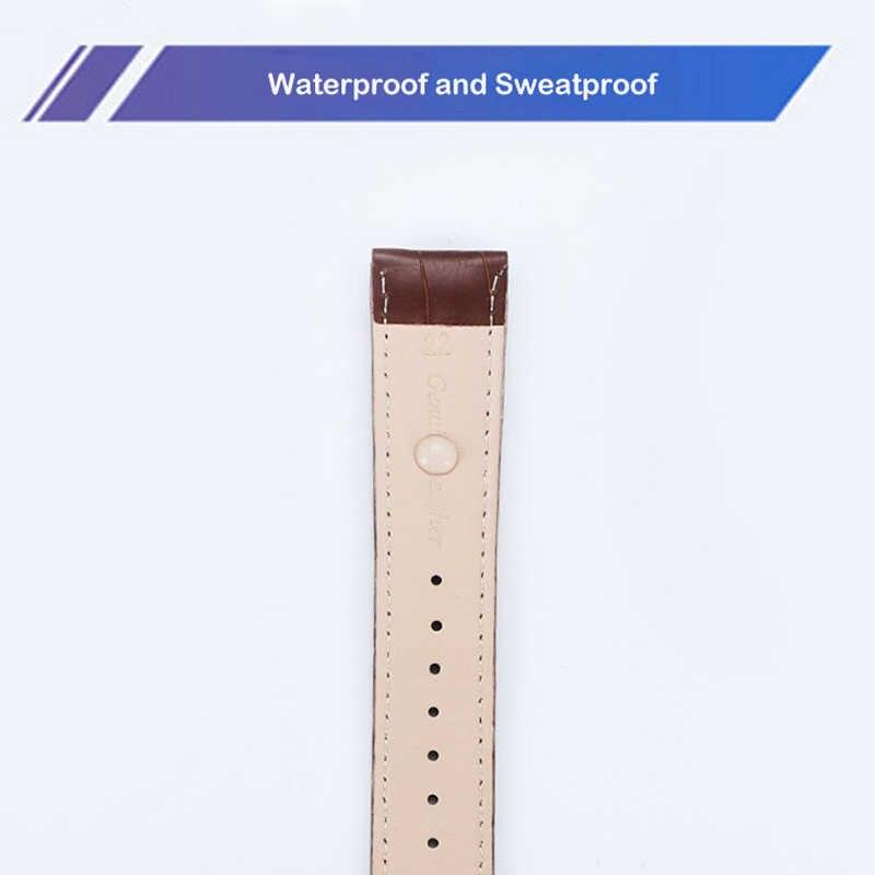 送料無料高品質本革ストラップ時計バンドアクセサリーブラウン黒帯 10 ミリメートル 12 ミリメートル 14 ミリメートル 16 ミリメートル 18 ミリメートル 20 ミリメートル 22 メートル 24 ミリメートル