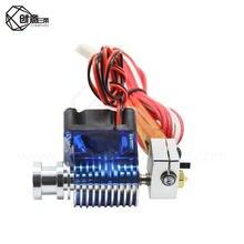 Impressora 3d v6 wade curta distância j-head hotend 12v/24v para 1.75/3.0mm extrusora com bocal & ventilador de refrigeração para reprap todo o metal