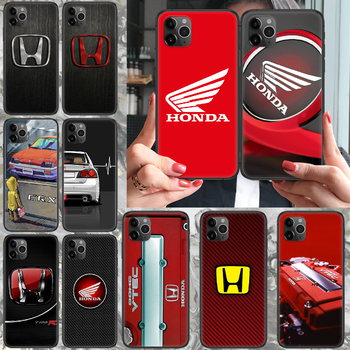 JDM Honda logo Phone case For iphone 4 4s 5 5S SE 5C 6 6S 7 8 plus X XS XR 11 12 mini Pro Max 2020 black hoesjes trend image