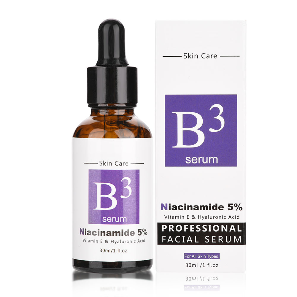 Hyaluronic Acid Vitamin E B3 Face Essence Liquid Moisturizing Facial Skin Whitening Lifting Firming Anti-Wrinkle Care Serum