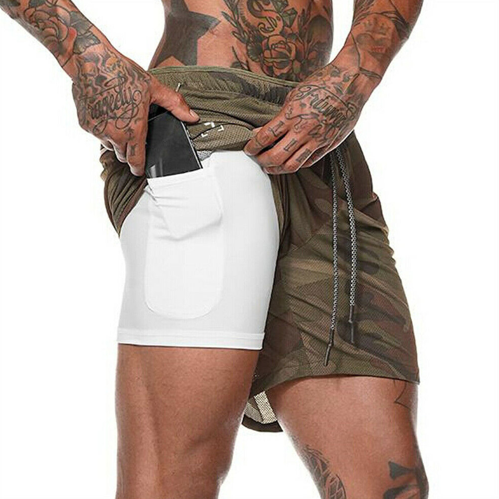 Men Sports Training Bodybuilding Shorts Summer Workout Fitness Short Pants TY53