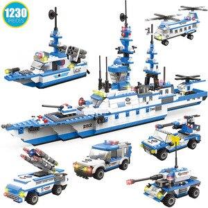Image 5 - 890 adet şehir polis karakolu yapı taşları uyumlu SWAT şehir polis arabası hapis hücre helikopter tuğla oyuncaklar çocuklar için erkek hediyeler