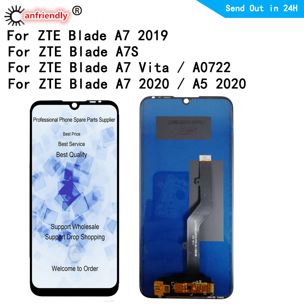 For ZTE Blade A7vita A7S A5 2019 2020 P963F02 A0722 LCD Display+Touch panel Screen Digitizer module Assembly Display Repair