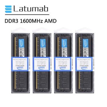 Latumab RAM DDR3 8GB 16GB Memory RAM 1600MHz for AMD CPU Chipset Motherboard Memoria RAM DDR3 PC Memory DDR3 Desktop RAM ddr3l 8gb memory ram 1600mhz 1 35v sodimm ram 204pin laptop ram for amd ddr3 motherboard