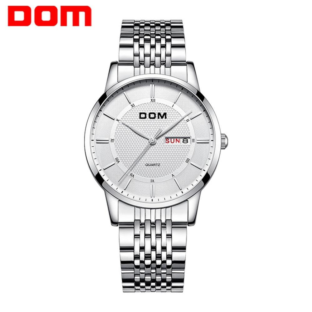 DOM Watches Fashion Men Top Brand Luxury Mens Steel Wristwatches Men's Quartz Sports Watches relogio masculino M-11D-7M