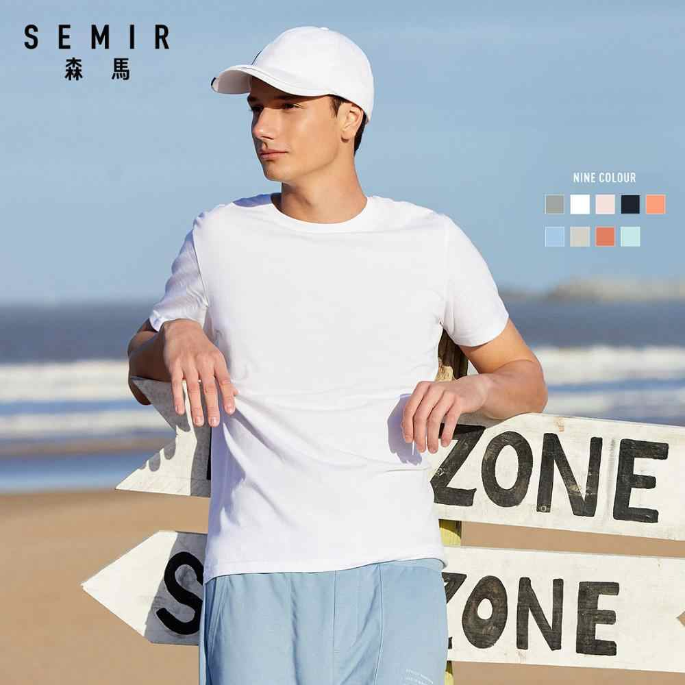 SEMIR estate manica Corta T-shirt da uomo 2020 semplice o collo stretch solid new top abbigliamento casual tshirt uomo streetwear xs-2xl