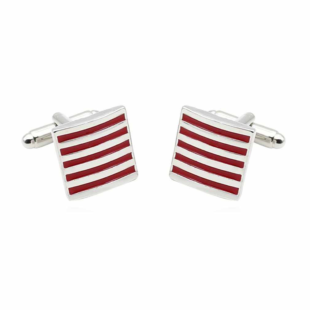 French Style Stripe Cuff Links Men Simple Style Shirt Cufflinks Shirt Cuff Button Cuff Links Best Gifts Luxury Design