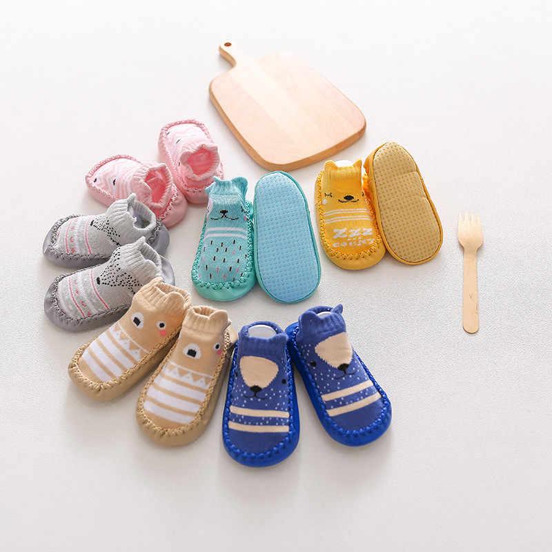 2020 Bayi Baru Lahir Kaus Kaki dengan Karet Sol Bayi Bayi Gadis Anak Laki-laki Sepatu Musim Semi Musim Gugur Bayi Lantai Kaus Kaki Anti Slip sol Lembut Kaus Kaki