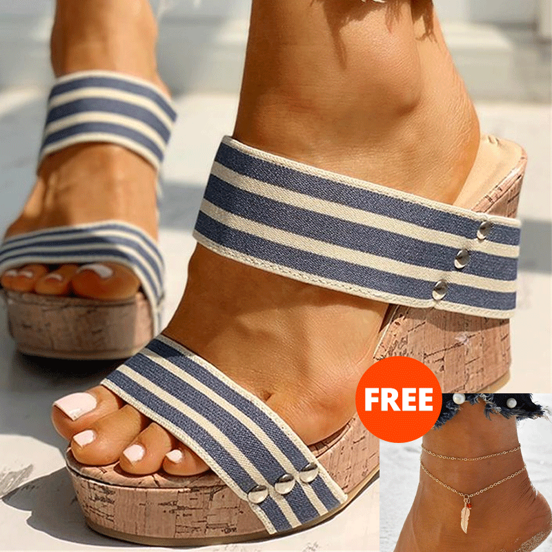 INS Leisure big size 43 Women comfortable Wedges Shoes 2020 On Stock Summer Sandals Woman Platform High Heels Shoes Woman