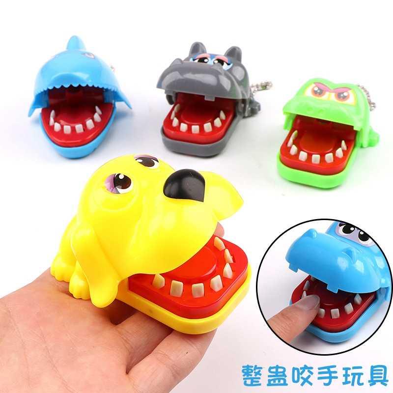 ความแปลกใหม่ของเล่นกัดเกมนิ้วมือ Antistress สัตว์ฉลามจระเข้ Hippo สุนัขของเล่นเด็กตลก Gags Jokes ปาก Antistress