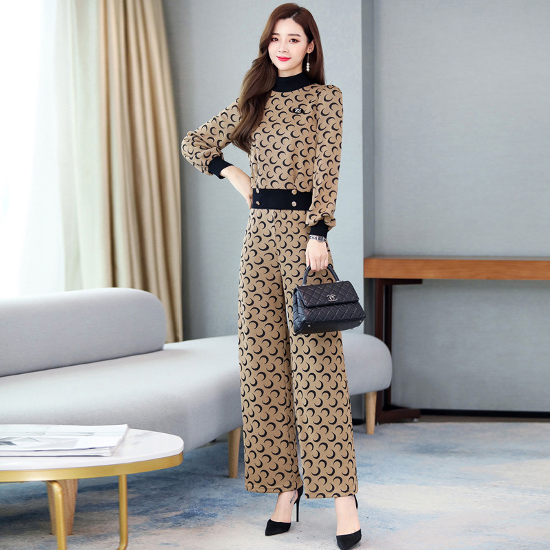 2019 Autumn Fashion And Personality By Age Versatile Sweet One-Piece Long Sleeve Convention Loose-Fit Slim Fit
