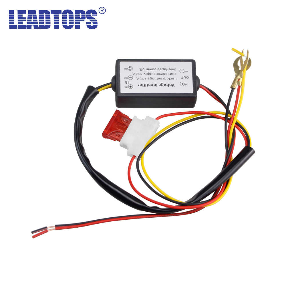 DRL Controller Auto Mobil LED Siang Hari Berjalan Lampu Relay Harness Dimmer On/Off 12V Lampu Kabut Controller 2016
