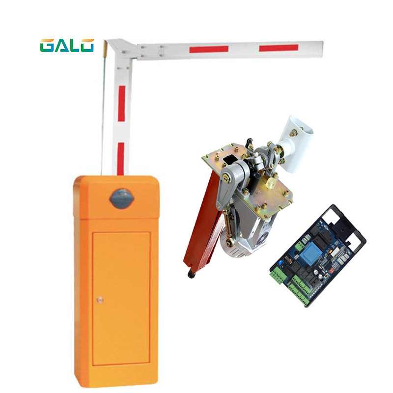 Parking Management System Foldable Arm  Intelligent Parking Lot With Folding Safety Fence Electric Retractable Barrier Boom Gate