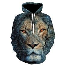 Новинка популярный товар мужская толстовка с 3d принтом льва