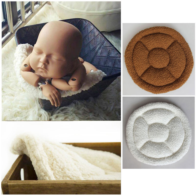 Baby Photography Props Accessories Newborn Posing Pillows Cushion Pad Round Shape Universal Mat For Newborn Photography Barrel