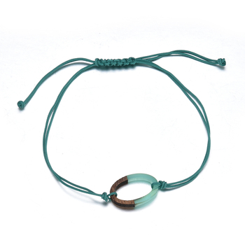 Simple Cute Green Rope Chain Bracelet for Women Charm Heart Cactus Round Bracelet Accessories as Sweet Wedding Jewelry Gift 4