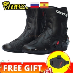 PRO-BIKER SPEED BIKERS Motorcycle Boots Men Racing Motorcycle Riding Boots Motocross Off-Road Motorbike Boots Moto Shoes A004