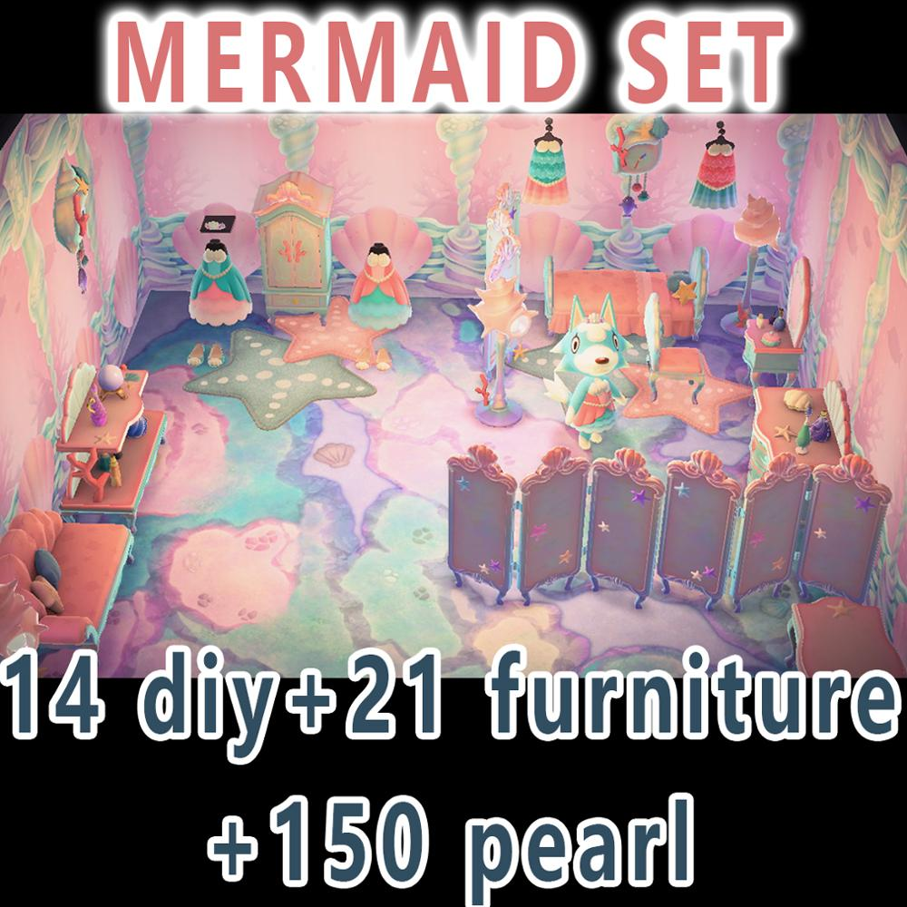 Animal Crossing New Horizons DIY Animal Crossing Bells Golden Nugget Gold Tools NMT Recipes Dress Mermaid Pirate Gulliver Set