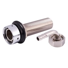 92.5mm Stainless Steel Elbow Shank Beer Tap Kegerator Draft Beer Faucet Accessories with Diameter 8mm for Homebrew Beer Keg(China)