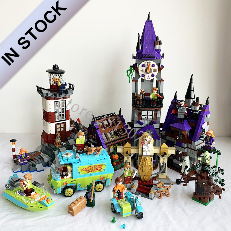 In Stock Mystery Mansion Haunted Lighthouse Plane Adventures Model Blocks Bricks Compatible With 75900 75901 75902 75903 75904