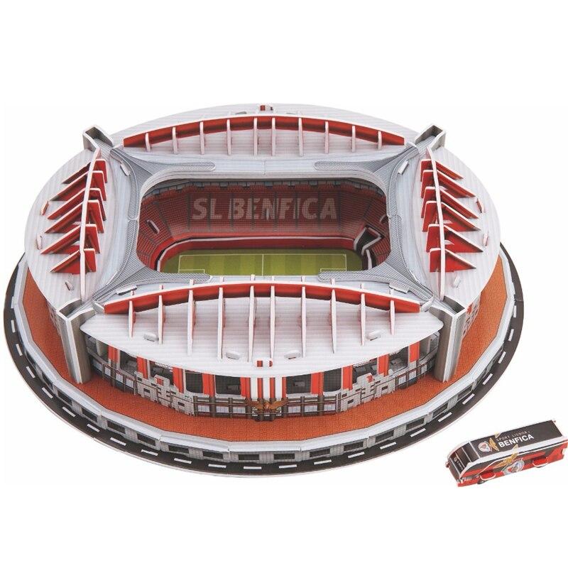 84Pcs/set Portugal Benfica Stadium RU Competition Football Game Stadiums Building Model Toy Kids Child Gift Original Box