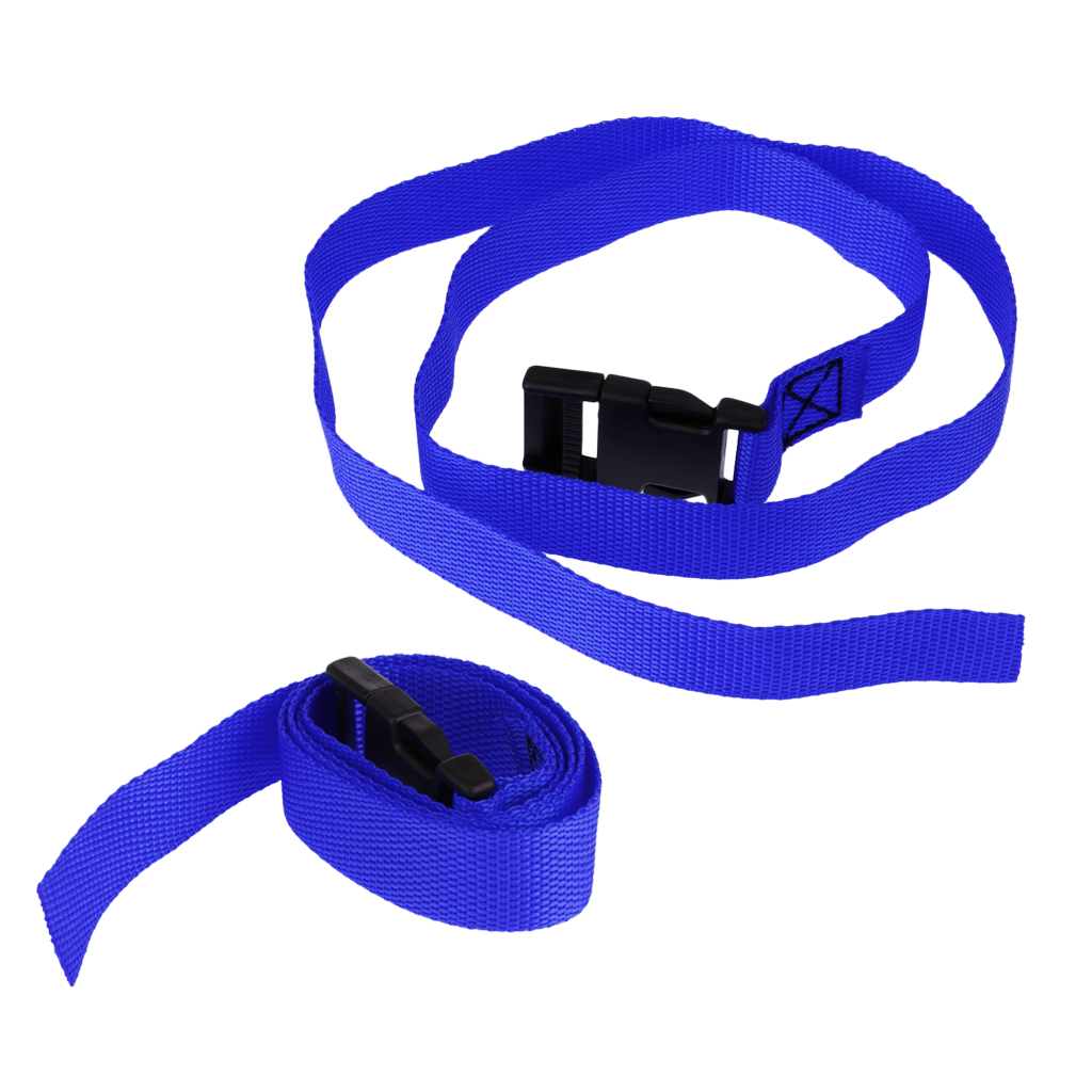 2pcs 39.Golf Trolley Webbing Straps/Luggage Tie Down Straps With Quick Release Buckle