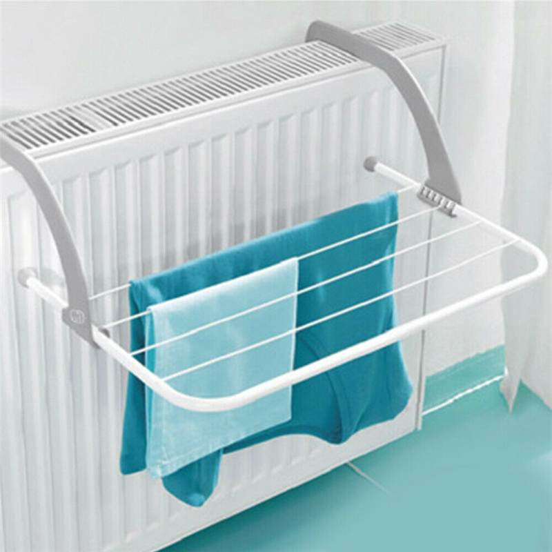 Folding Drying Rack กลางแจ้งห้องน้ำแบบพกพาเสื้อผ้าระเบียงซักรีดเครื่องเป่า Airer รองเท้าผ้าขนหนู POLE ผู้ถื...