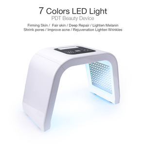 Image 4 - プロ7色pdt ledフェイスマスク光治療器締め付け機肌の若返り光子スパスキンケアツール