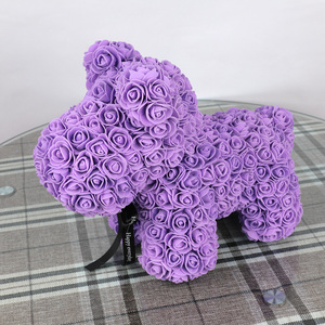 Image 3 - 40cm עלה ססגוניות כלב קצף טדי דוב עלה אהבה החברה מתנת יום יום הולדת מסיבת קישוט פרחים מלאכותיים
