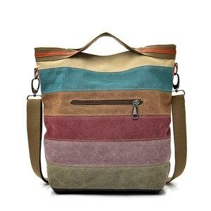 Image 3 - 2020 New Designer Brand Crossbody Bags for Women Large Messenger Bag Canvas Fashion Handbags Women Bags Bolsas Top Quality