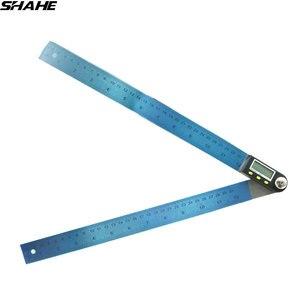 200mm/300mm digital ângulo régua eletrônico de aço inoxidável medidor de ângulo eletrônico transferidor goniômetro digital|angle finder|angle finder ruler|angle finder digital -