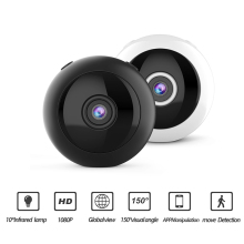 W8 Surveillance Camera WIFI Remote Security Home Camera HD 1080P Outdoor Sports Camera Night Vision Black Eye Wide-Angle Camera