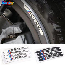 4 шт./лот алюминиевые автомобильные наклейки M Performance для bmw E38 E39 E46 E53 E60 E61 E64 E70 E71 E85 E87 E90 E83 F10 F20 F21 F30 F35