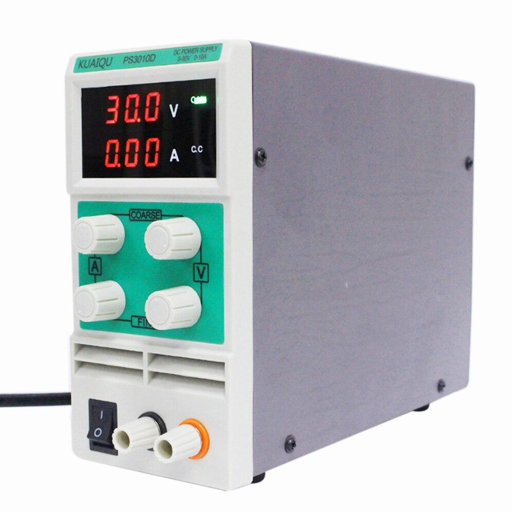 Мини-выключатель питания постоянного тока, лабораторная Регулируемая переменная сила тока Ограничение PS3010D 3-значный удобный стабилизатор ...