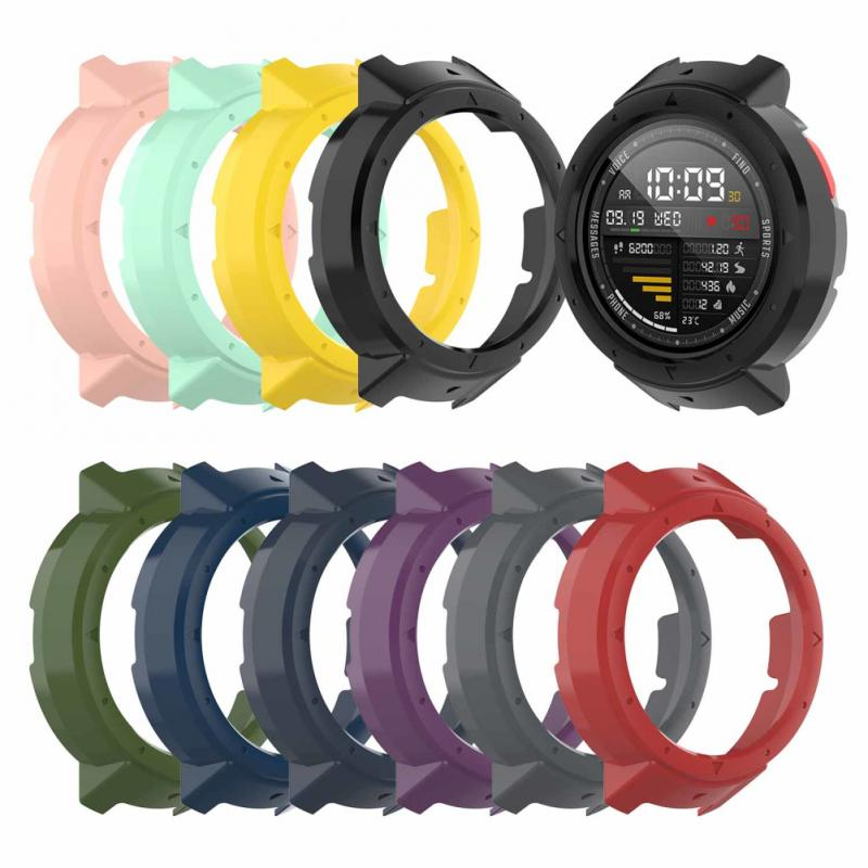 Soft Slicone Protective Case Cover Protector Frame Shell Colorful Slim For Huami Amazfit Verge Watch Accessories