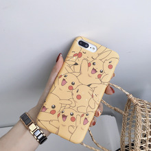 Japanese cartoon cute Pikachu mobile phone case for iPhone X XS XR XSMax 8 76 6S PluS liquid silicone anti-drop protection cover