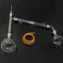 Lab Glassware Soxhlet Extractor Condenser Set with 24/29 1000ml Flat Bottom Flask+40/38 Tube Distillation Lab School Supply
