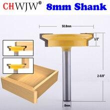 CHWJW 1PC 8mm Schaft Gerade Schiene & Stile Router Bit Holzbearbeitung Meißel Cutter Werkzeug für Holzbearbeitung Werkzeuge
