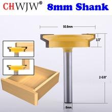 Chwjw 1 pc 8mm 생크 스트레이트 레일 및 타일 라우터 비트 목공 치즐 커터 도구 목공 도구