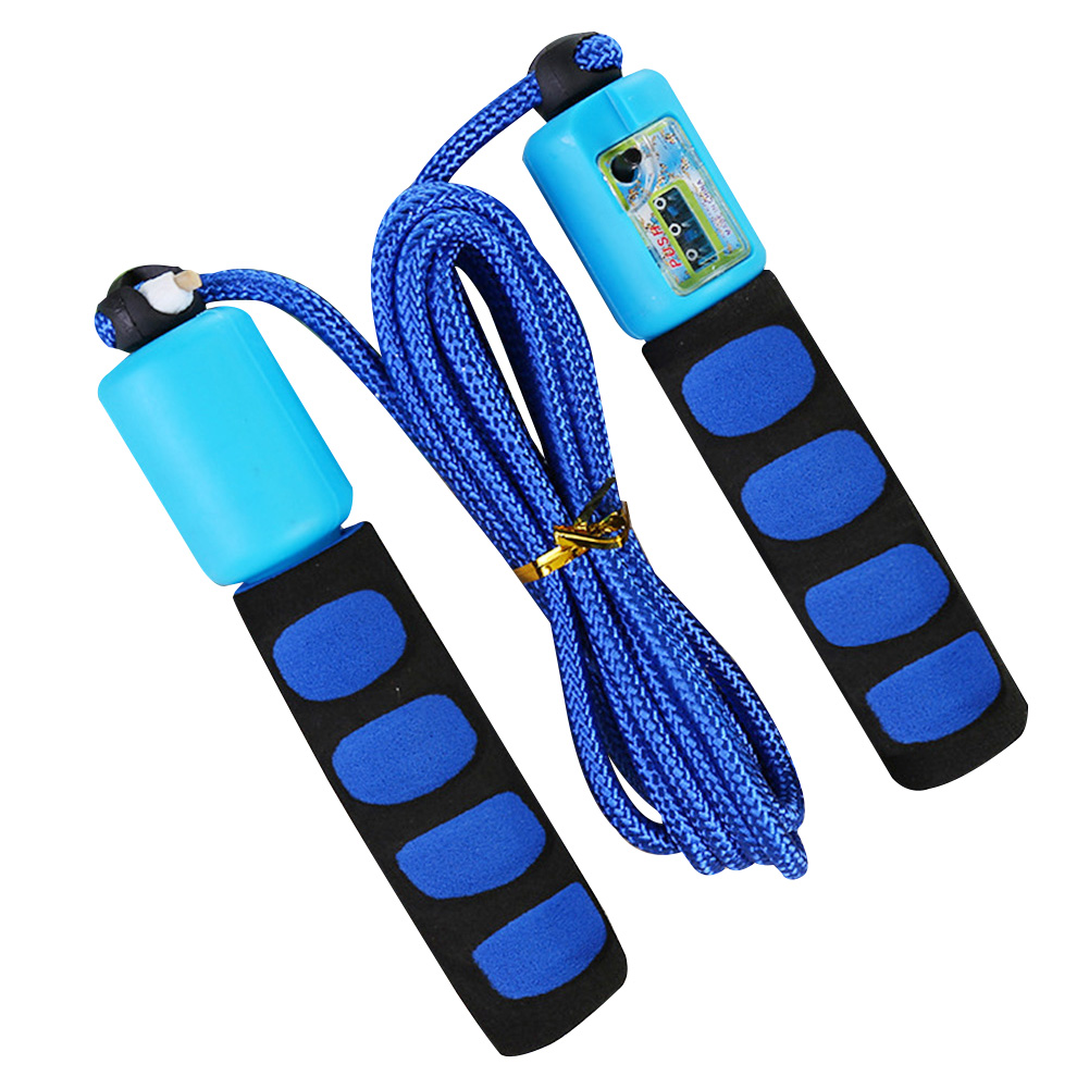 Jump Rope With Counter 2.8 Meter Non Slip Skipping Wire Exercise Sports Fitness Foam Handle Portable Bearing Fast Speed|Jump Ropes|   - AliExpress