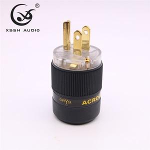 Image 4 - XSSH FP 15&FC 15 Hi End HIFI Pure Copper Plating Gold Electrical Connector 18mm AC Female Male Power US Plug IEC Socket