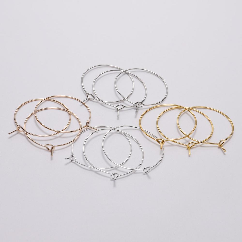 Золотые Большие круглые проволочные кольца, петли, серьги «сделай сам», висячие серьги, ювелирные изделия, аксессуары для изготовления ювел...