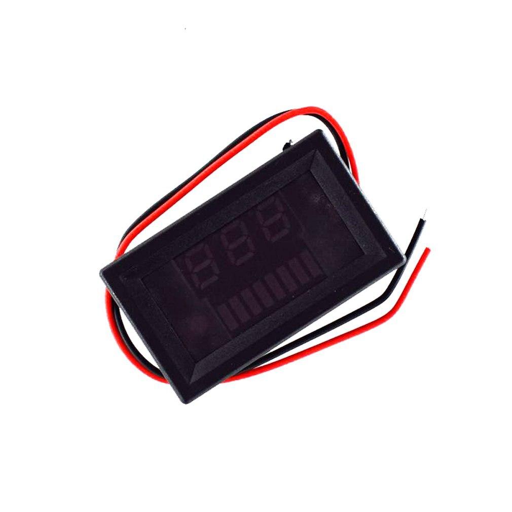 Digital Voltmeter DC 12V-60V Digital Voltmeter Voltage Panel Meter Red/Blue/Green For 6V 12V Electromobile Motorcycle Car