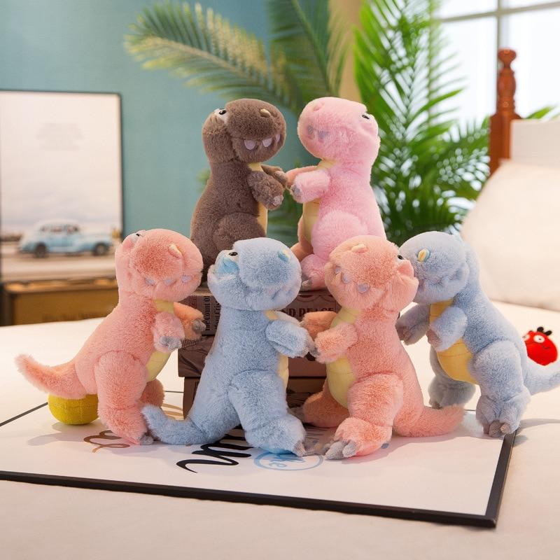 New cute rabbit fur mini dinosaur plush toy doll cute doll children holiday creative birthday gift for children in Stuffed Plush Animals from Toys Hobbies