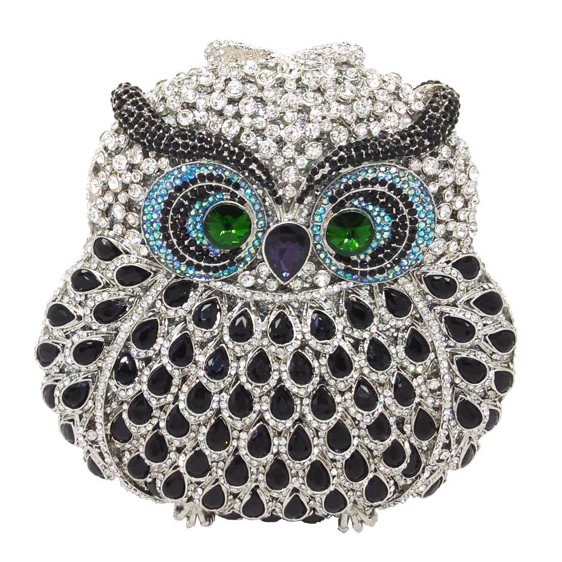 Bags for Women Owl Women Diamond Evening Clutch Bag Party Crystals Clutches Wedding Purses Ladies Hollow Out Handbags Bolsas