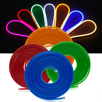 5m SMD2835 120leds/m LED Strip Light DC12V Waterproof IP68 Flexible Led Neon Rope Ribbon Lamp Silicone Tube