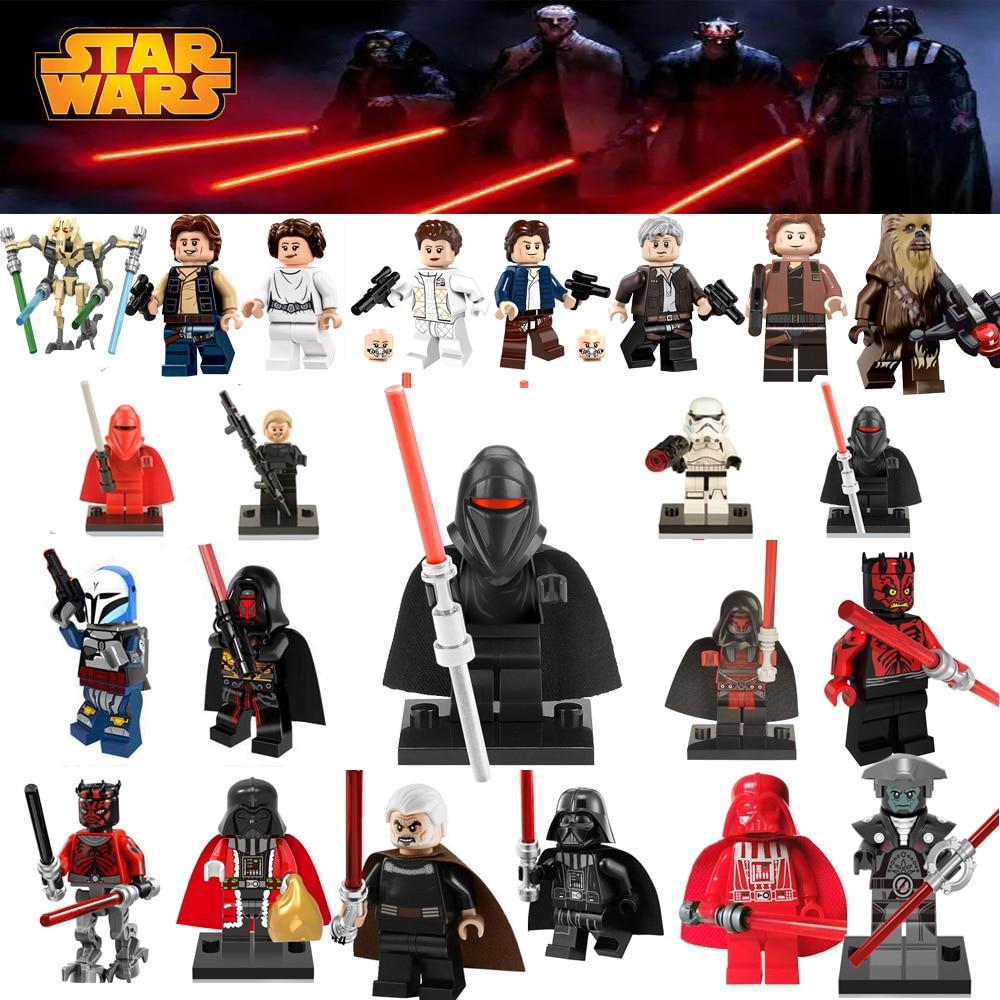 Single Sale Star Wars Building Blocks Luke Leia Han Solo Anakin Darth Vader Yoda Jar Toys legoings figures