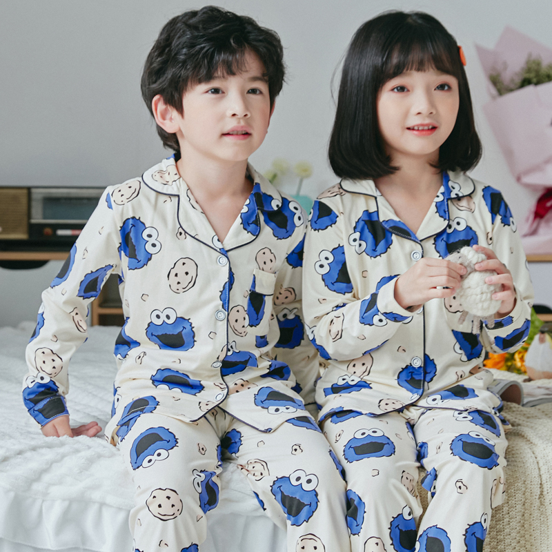 Kids Pajamas 2020 Spring Girls Boys Sleepwear Nightwear Baby Infant Clothes Animal Cartoon Pajama Sets Cotton Children's Pyjamas
